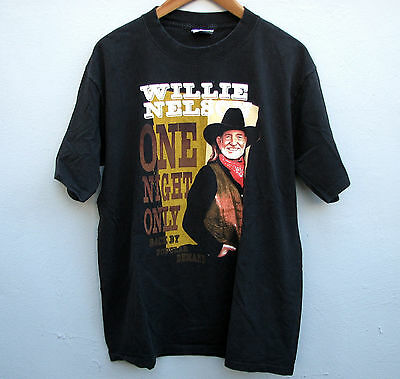 Willie Nelson One Night Only - Back By Popular Demand Men's Black T-Shirt Large