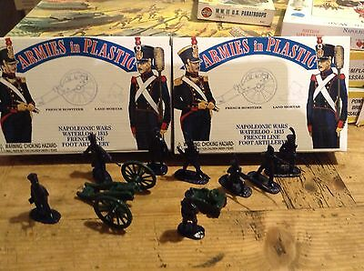 Airfix Armies In Plastic French ArtilleryTwo Mint Boxed Sets Waterloo 1/32 Scale