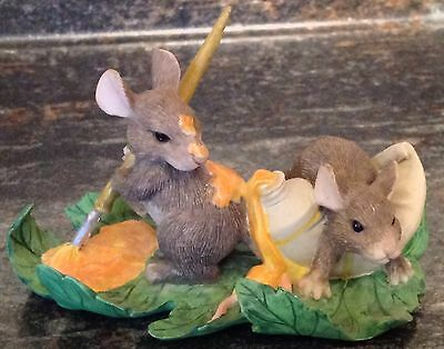 Charming Tails Silvestri Figurine Painting Leaves Mice Fitz & Floyd Dean Griff