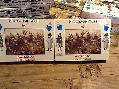Airfix Armies In Plastic Scots Greys Two Mint Boxed Sets Waterloo 1/32 Scale