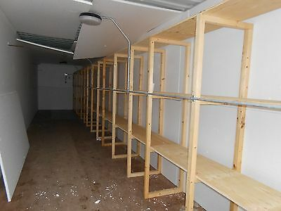 40ft  Shipping Container wooden racking