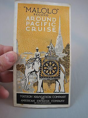 Vintage 1930  S.S. Malolo Cruise Ship Advertising Brochure Matson Line Flagship