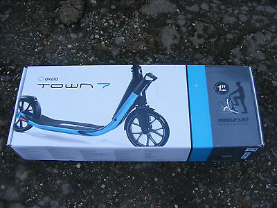Brand New Blue OXELO Town 7 EF Easy Fold Adult Mens Womens Unisex Push Scooter
