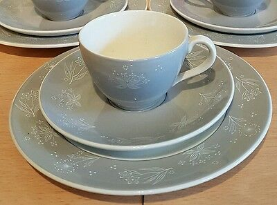 Royal Doulton 'Bridal Veil' Trio Demitasse cup, side plate, saucer Weddings Etc!