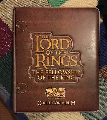 LORD OF THE RINGS 'The Fellowship Of The Ring' 3D Action Flipz Album + Cards