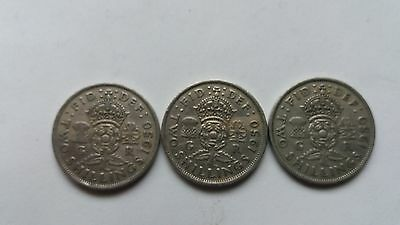3X George Vi Florins/two Shillings