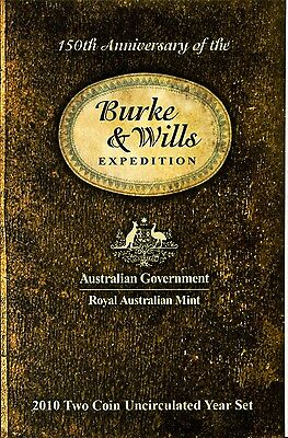 2010 - Burke & Wills - Two Coin Uncirculated Set