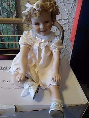 """Little Miss Shirley Toddler Porcelain Doll Elke Hutchens Sitting Weighted 18"""""""
