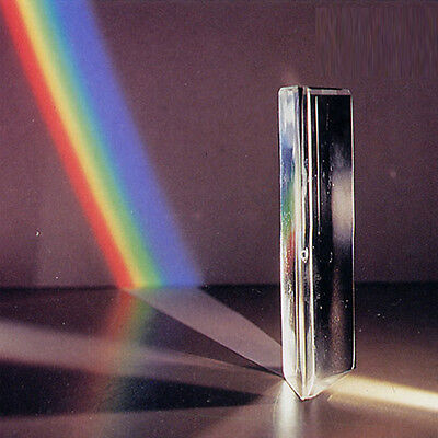 """3"""" Best Triangular Prism Optical Spectrum Glass for Physics Teaching Photography"""