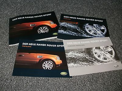Range Rover Sport Car Brochure Pack  From 2005  German Text  Free Uk  P & P