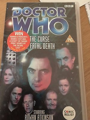 Doctor Who THE CURSE OF FATAL DEATH Comic Relief BBC VHS Video DELETED
