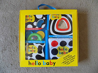 Hello Baby Set 0 - 6 months Baby Gift Book Shaker Teether (g1)