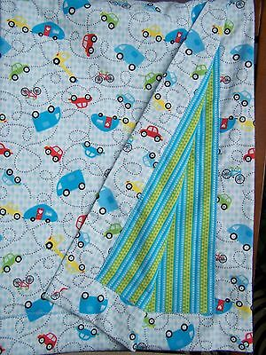 Othc*boy*flannel Receiving Blanket*cars And Campers*toddler Lap Blanket