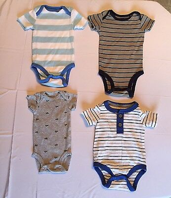 Newborn And 0 To 3 Month Lot Of Baby Boy Onesies