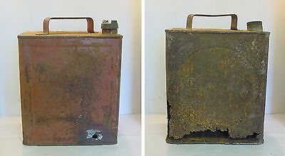 2 Vintage 2gallon Petrol Cans for restoration (1 good; 1 not!)