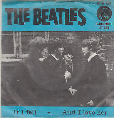 "The Beatles-If I fell/And I love her Dutch 7"" Single"