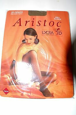 ARISTOC Semi Sheer 20 Denier Tights With 3D Lycra Small Illusion (nude) NEW