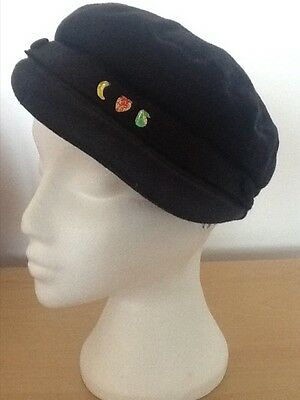 Vintage Navy Cap Beret Hat Wool Dunn & Co. THE CLIPPER 7 3/8 (60)