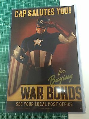 Captain America War Bonds Poster 11X17