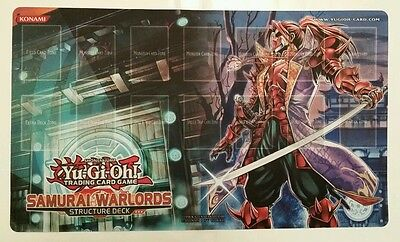 YuGiOh - Samurai WarLords PlayMat - Mint - Brand New - Never Play - CHEAPEST.