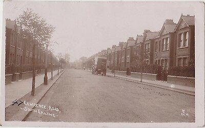 Rp Lawrence Road South Ealing London, Delivery Cat  Real Photo  Posted 1910