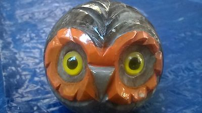 Beautiful Vintage Alabaster Owl Made In Italy Hand Carved