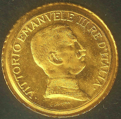 Italy : 8kt. Gold Coin. Minature version struck in 8kt Gold,Tiny, but very cute.