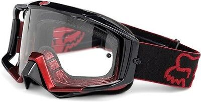 Fox Racing Main Pro Jet Black 2 Red Fade Goggles - Clear Lens 30-135