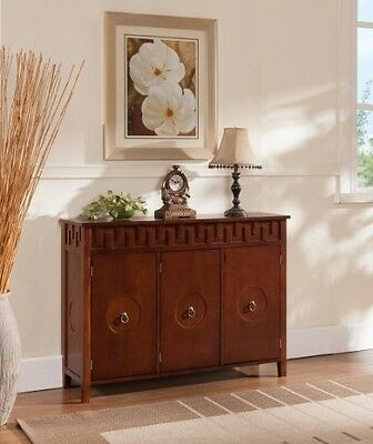 Kings Brand Furniture Wood Console Sideboard Buffet Table with Storage, Walnut