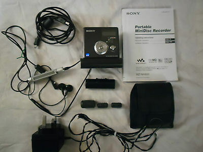 Sony Mz-Nh900 Hi-Md Personal Minidisc Player / Recorder & Accessories