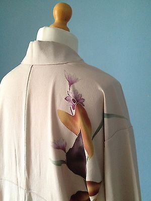 Lot Mannequin Women Size 12 And Beautiful Vintage Art Deco Kimono Hand Painted