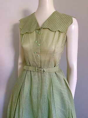 Original Vintage 40s 50s Day Dress , Rockabilly Retro ,Swing , Pinup, Full Skirt
