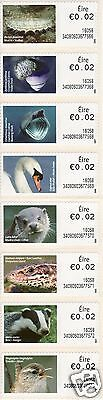 Full Set 8 x An Post Eire Ireland 2c 2015 Irish Animal stamps MNH