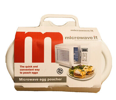 Microwave it Egg Poacher Quick & Easy Breakfast Lunch Dinner Meals Kitchen New