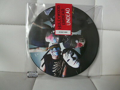 """HOLLYWOOD UNDEAD Undead Rare ltd numbered 7"""" Vinyl Picture disc Mint Unopened"""