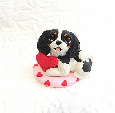Cavalier King Charles  Polymer Clay Hand Sculpted DOG collectible by Raquel