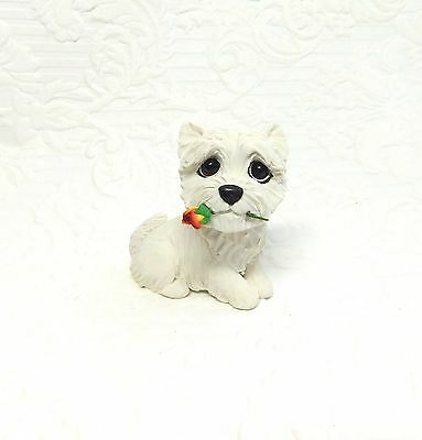 Westie West Highland White Terrier Polymer Clay Hand Sculpted by Raquel Torres