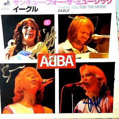 Abba Japanese  Thank you for the music /Eagle signed by Abba