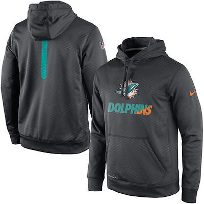 Nike Miami Dolphins NFL Sideline Fleece Therma-FIT Pullover Hoodie in size S