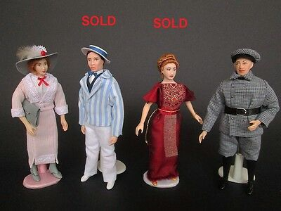 1910/1920 miniature dolls in 1:12 scale. Dollhouse dolls by Paola&Sara Miniature