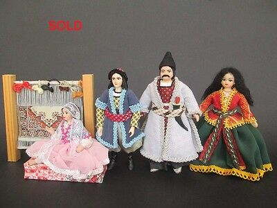 Ethnic miniature dolls in 1:12 scale. Dollhouse dolls by Paola&Sara Miniature