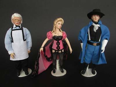 1880 miniature dolls in 1:12 scale. Dollhouse dolls by Paola&Sara Miniature