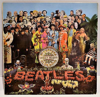 Beatles Sgt. Pepper's Lonely Hearts Club Band PMC 7027 Mono UK LP