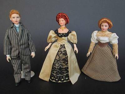 1890/1900 miniature dolls in 1:12 scale. Dollhouse dolls by Paola&Sara Miniature