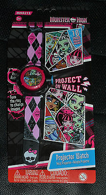 Monster High 6 Functions Digital Wristwatch with Images Projector Brand New