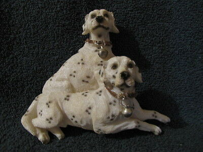 """VINTAGE DALMATIAN DOG WALL HANGER WITH BELLS ON THEIR COLLARS. 6 1/4"""" x 6"""""""