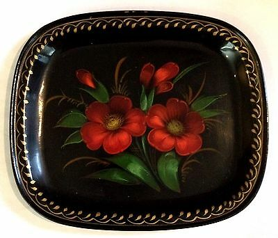 Vintage Hand Painted Russian Tole Tray