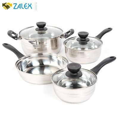 Stainless Steel 7 Piece Cookware Set Non Stick Cooking Pots and Pans Kitchen