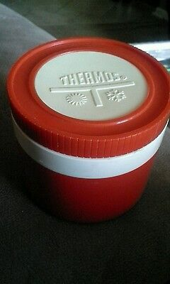Vintage Thermos Insulated Jar #1155 USA Red