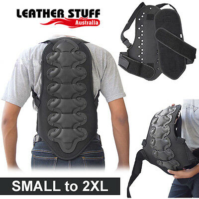 New Motorcycle Motocross Back Spine Protector Body Armour Size S to 3XL
